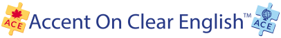Accent On Clear English (ACE) logo